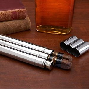 Other - Double Cigar Holder And Flask